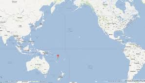 A World Map by Vanuatu Map