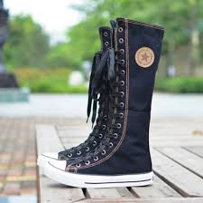 high top motorcycle boots emo gothic punk women rock boot girls shoes sneaker knee high zip