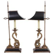 rare and unusual french bouillotte or desk lamps by chapman at 1stdibs