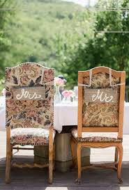 Bride And Groom Chair Signs Bride And Groom Chair Decorations Brides