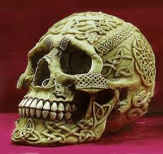 Celtic Skull - skull with nose ring