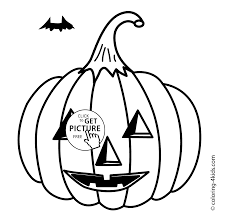 halloween jack o u0027lantern coloring pages for kids bat printable free
