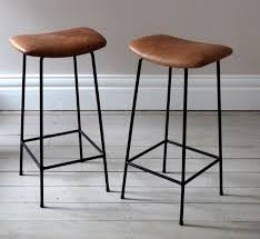 bar stools wood and leather luxury excellent bar stools leather 39 kinbor set of 2 modern