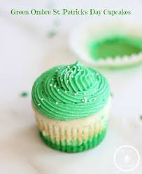 green ombre st patrick u0027s day cupcakes