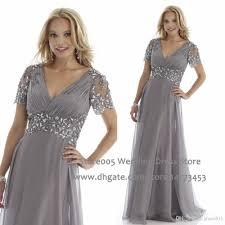 designer grey plus size mother of the bride dresses a line short