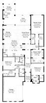 Mediterranean House Plans With Courtyard The Anvard Is A Luxury Villa Home Plan Designed With A Narrow Lot