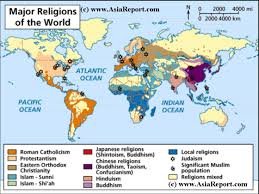 Chinese World Map by Map O T Distribution O T Religions U0026 Faiths Of The World 1a By