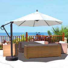 11 Ft Offset Patio Umbrella Best Sunbrella 11 Ft Cantilever Umbrella Within 24697