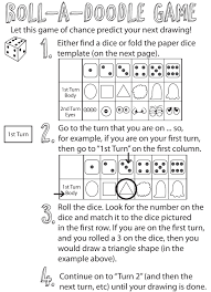 drawing games for kids roll the dice drawing game how to draw