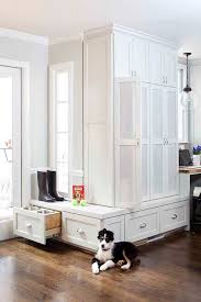 Floor To Ceiling Storage Cabinets With Doors Mud Room Kitchen Transitional Laundry Room Terracotta Studio