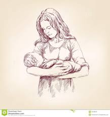 drawn baby mother baby pencil and in color drawn baby mother baby