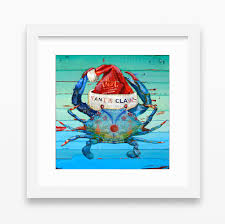 santa claws christmas crab danny phillips art print u2013 parody art