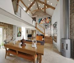 Restored Barns A Contemporary Look Gives Makes This Beautifully Restored Stone