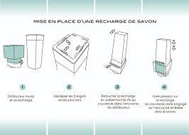 recharge savon mural installation de la cartouche du distributeur de savon en poudre