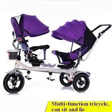 si e auto gonflable nouvelle arrivée jumeaux enfant tricycle jumeaux poussette