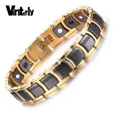 hand bracelet men images Vinterly mens bracelet health black ceramic bio magnetic germanium jpg