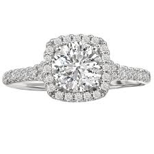 halo engagement ring settings 18kt 37ctw halo setting for 1ct