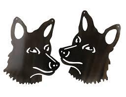 smw362 metal gate garden wall art coyotes sunriver metal works
