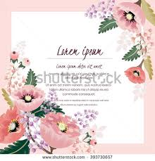 Border Designs For Birthday Cards Vector Illustration Beautiful Floral Border Spring Stock Vector