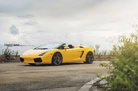 yellow lamborghini gallardo yellow lamborghini gallardo adv05 m v2 sl series wheels adv 1