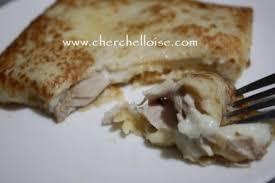 recette de cuisine salé crêpe salé au poulet et chignons le mag culinaire par sabrina