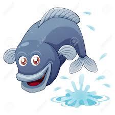 illustration of fish jumping royalty free cliparts vectors and