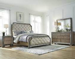 Bedroom Sets With Mirror Headboard Mirrored Headboard Bedroom Set Simple Design Of Mirrored Bedroom