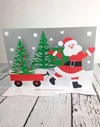 moma christmas cards moma santa s wagon boxed cards silver in the city