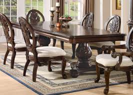 pedestal dining room table coaster tabitha double pedestal dining table 101037