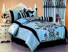 Blue And Black Comforters