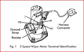 wiper motor wiring and resistor