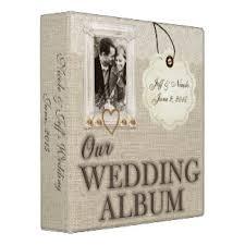 burlap photo album wedding photo album gifts on zazzle