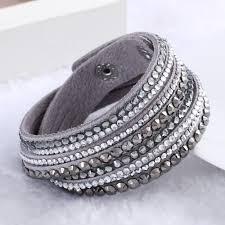rhinestone leather wrap bracelet images Rhinestone leather wrap bracelet hot deal bag jpg