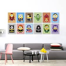 Aliexpresscom  Buy Kawaii Despicable Superhero Avenger Movie - Canvas paintings for kids rooms