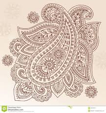 henna flower paisley doodle vector design stock vector
