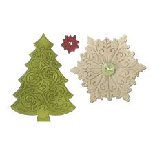 sizzix winter wishes collection christmas bigz die