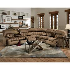 Loveseat Recliner With Console This Gorgeous Comfortable 3 Piece Sectional Sofa Features A