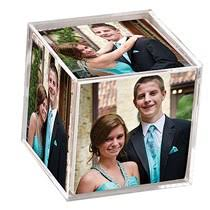 Photo Cubes Centerpieces by Clear Memories Photo Cube Shindigz