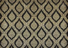 wall pattern thai floral pattern design on wall stock photo picture and royalty