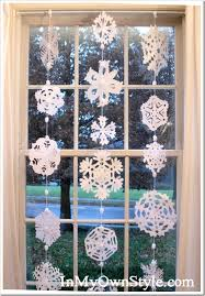 Snowflake Curtains Christmas How To Make A No Sew Paper Snowflakes Window Curtain In My Own Style