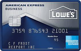 Gas Cards For Small Businesses Lowe U0027s Business Rewards Credit Card American Express