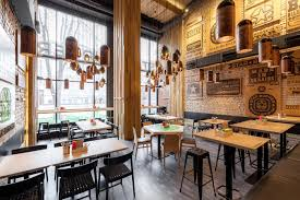 interior awesome industrial restaurant design with outdoor
