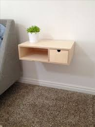 pacco floating drawers from birch plywood wall mounted