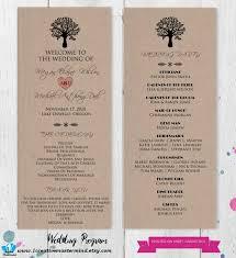 wedding programs diy templates 22 best diy wedding program templates images on