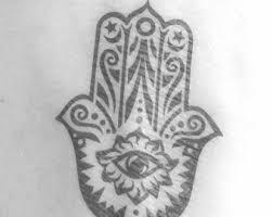 hamsa tattoo etsy