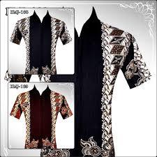 desain baju batik pria 2014 h a b i s batik pria casual design black dark brown sold out