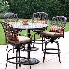 Bar Height Bistro Table Patio Ideas Bar Height Outdoor Bistro Table Sets Mississippi