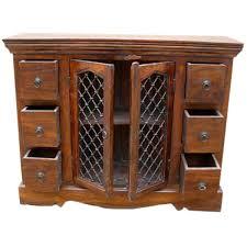 classic honey oak 6 drawer dining room buffet