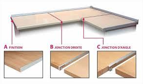 jonction plan de travail cuisine profil blanc jonction d angle 2 quarts de ronds rayon 6 8mm 28x670 m