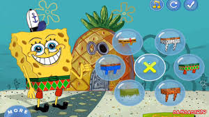 spongebob crazy dress up and lost in time games youtube